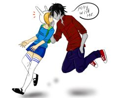 Fionna and Marshall Lee by soofikbm