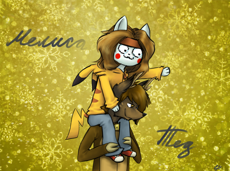 Melisa and Ted. by ASTERUS19