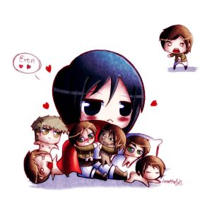 SnK Eren Eren everywhere by Lezzette