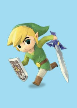 Toon Link Low Poly by TripleS-Art