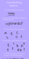 Handwriting meme by reithy
