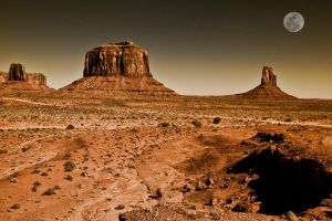 Monument Valley Moon by Ray-Devlin