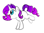 Filly Rarity by PinkamenaSpy