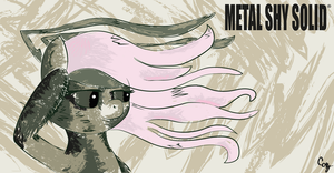 Fluttershy in Metal Shy Solid by JoeMasterPencil