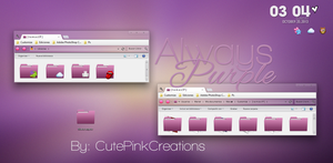 AlwaysPurple/Theme Iconpackager. by CutePinkCreations