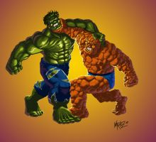 BIG BRAWL 2.0: Hulk vs. Thing by JNcomix