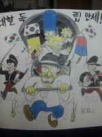 The simpsons:Run for the independence to Korea! by komi114