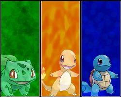 Kanto Starter Wallpaper by Kevandre
