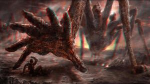 Reaching Demon Monster 3-D conversion by MVRamsey