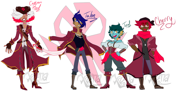 Captain Red and Crew by TheXzina