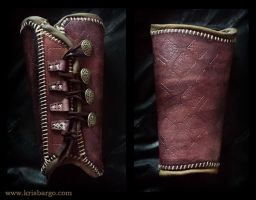 Mahogany Brown Bracer by StrongHandLeather