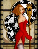 Art Nouveau Torch Singer by Tico-Illustrations