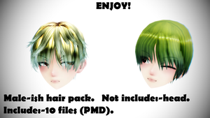 MMD male-ish hair pack! by ARMIN-LOL