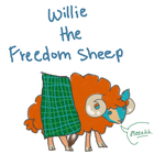 Willie the Freedom Sheep by AskTheHighlands