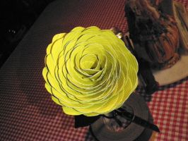 Giant yellow duct tape rose by melie97