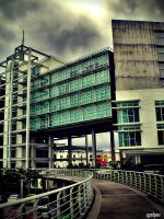weird building on a bad day by obliviouslysin