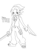 Shaman King- Yoh Lineart by Neighthirst