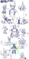 Sketch Dump - Live Steam March 9 2013 by Lorddragonmaster