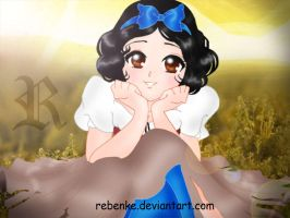 Beauty Snow White Blancanieves by rebenke