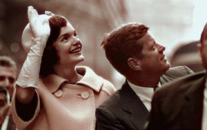 Jackie and John Kennedy in 1960 NYC parade by KraljAleksandar