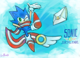 Drawloverlala' SONIC Skyline by Auroblaze