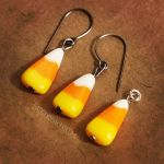 Candy corn jewelry by BadgersBakery