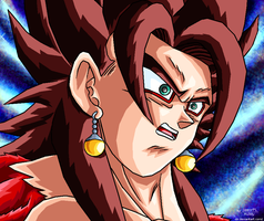 Vegetto SSJ4 shocked by JJJawor