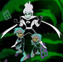 Dani, Dan and Danny Phantom by AshAngela