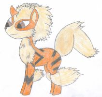 Ponified Arcanine by VioletDragonian