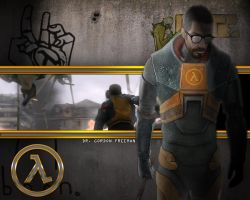 Gordon Freeman Wallpaper by EspionageDB7