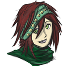 Red-headed Lady with a Green Bandana by UnlimitedShadeWorks