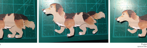 Paper Puppet Commission- Badger by Spazzel