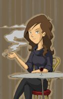 Cafe Lady by Sughly