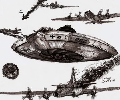 Foo Fighters (Nazi Ufos) by shank117