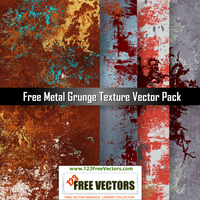 Free Metal Grunge Texture Vector Pack by 123freevectors