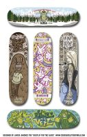 Skate decks for Kickflip for the Cause by ExoesqueletoDV