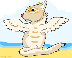 FREE Winged sand Cat adopt (taken) by CelCel98
