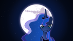 Princess Luna and the Moon (Wallpaper) 1920x1080 by 912photoshopking