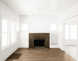Empty Room - Two Rooms - Brown Fireplace -  Brown  by Quryous