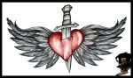 Winged heart comission sketch by DarkArtsColective