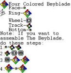 Custom Beyblade: Four Colored Blade by MariosHawt123