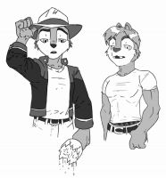 Inking: Chars Chip and Dale by PharaohQueen