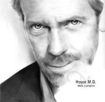 Gregory House W.I.P. 4 by latent-talent