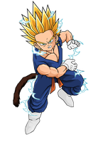 Kid Vegetunks SSJ2 by RobertoVile