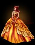 Disney Haut Couture - Belle by selinmarsou
