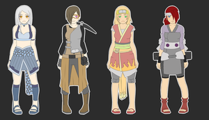 Elemental Naruto adoptables CLOSED by zombie-adoptables