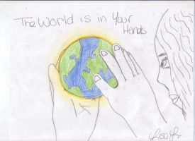 World is in Our Hands Pic+Text by DominosAreFalling