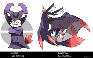 Vampire Fox Fakemon by Phatmon66