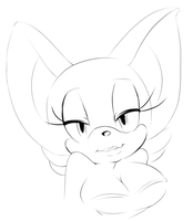 Rouge Lineart doodle by hayleigh