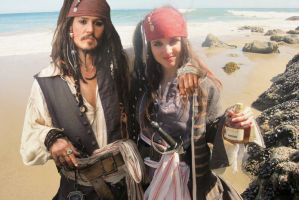 Elo and Jack Sparrow by elodie50a